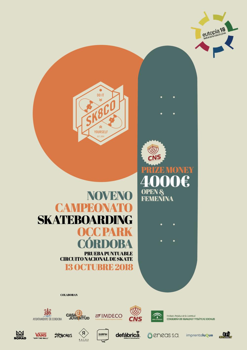 9º Campeonato Skate | OCC Park, Córdoba