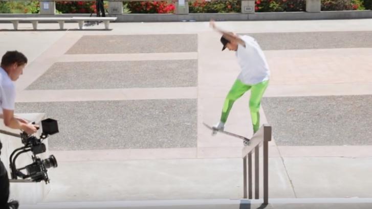 BE Skate Mag-Nyjah Huston | Gnarliest Slams - Skateboarding
