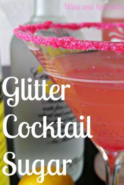 Pink Glitter Cocktail Sugar