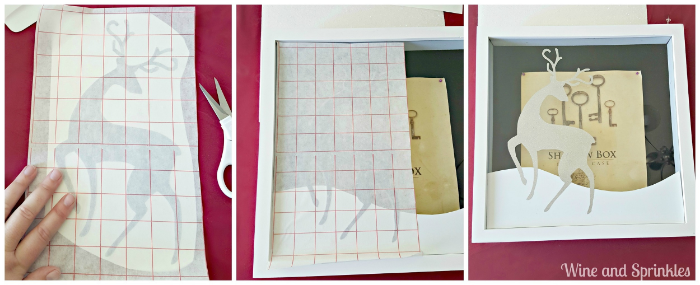 Now Cut You Piece Of Scrapbook Paper To Size So That It Lays Flat In The Bottom Shadow Box One Corners