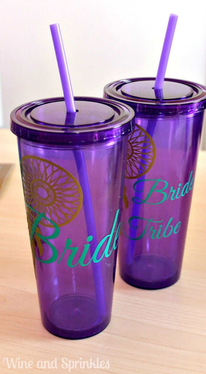 d7a1a152 Using these basic instructions, you can also design whatever tumbler you  like to make your own custom tumblers for you, your bride, or your wedding  party ...