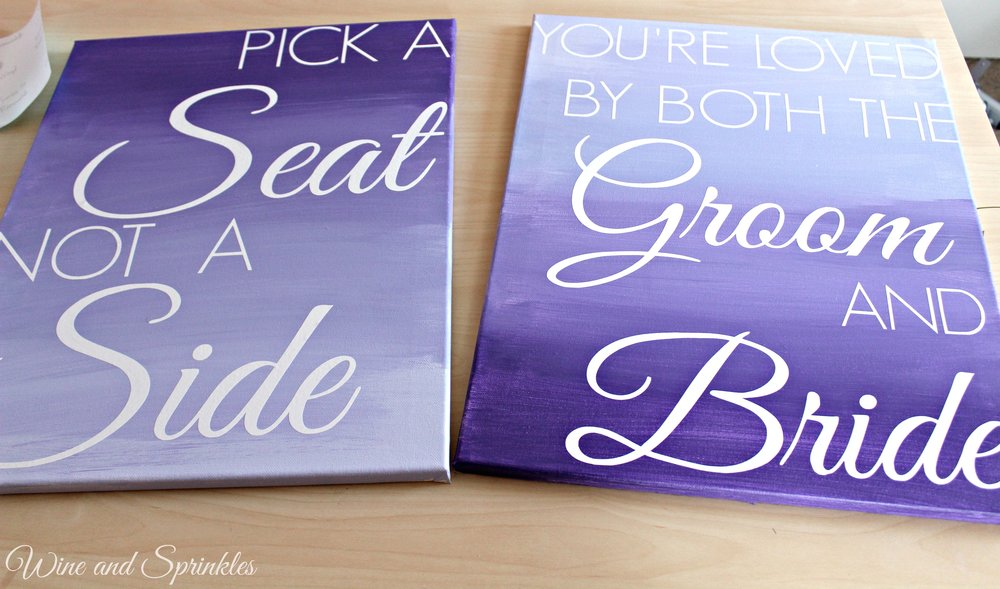 DIY Ombre Wedding Signs #diywedding #ombre