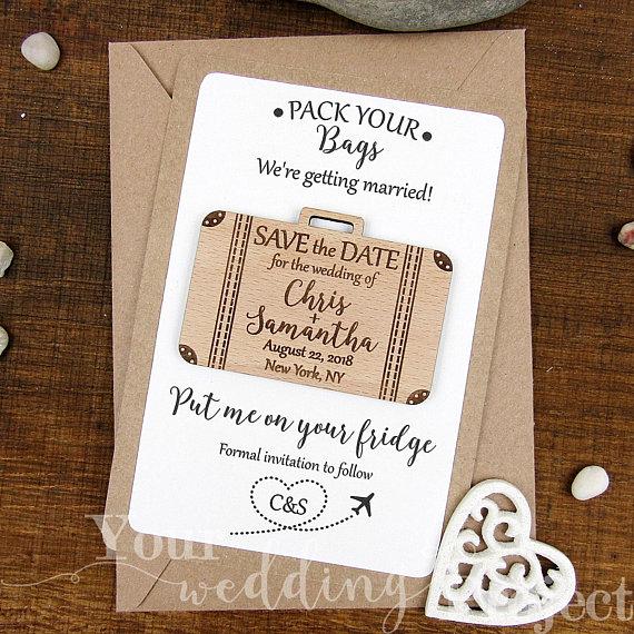 Fun and Unique Save the Dates for a Beach Wedding #beachwedding #destinationwedding #savethedate
