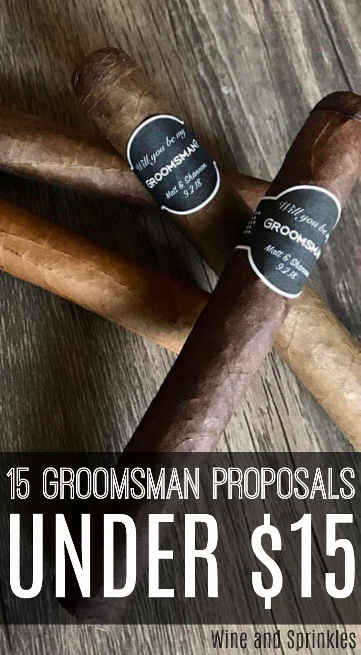 15 Groomsman Proposals Under $15 #willyoubemygroomsman #bestman #groomsmanproposal