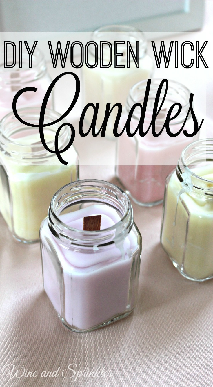 DIY Wooden Wick Candles #candles #diy