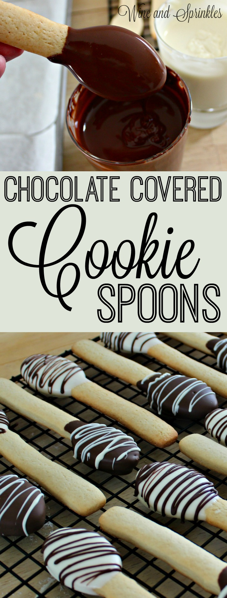 Chocolate Covered Cooker Spoons #cookie #favors