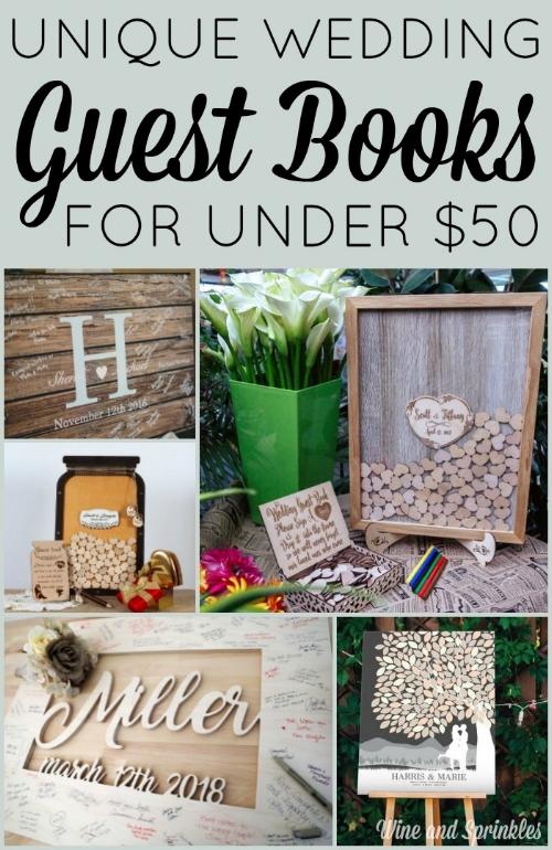 Unique Wedding Guestbooks Under $50 #wedding #guestbooks #weddingdetails