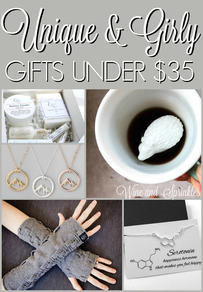 Unique and Girly Gifts for Women Under $35 #giftsforher #cheapgifts #giftideas