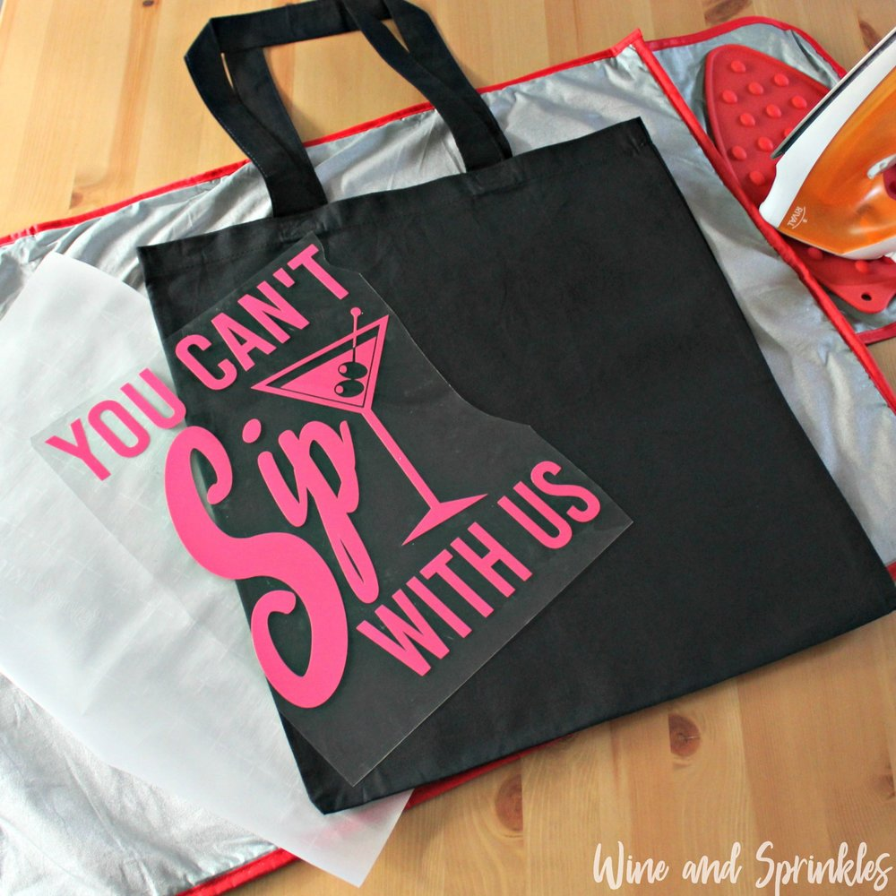 You Can't Sip with Us Iron On HTV Bachelorette Tote Bags #bachelorette #youcantsipwithus #htvvinyl #svgfiles