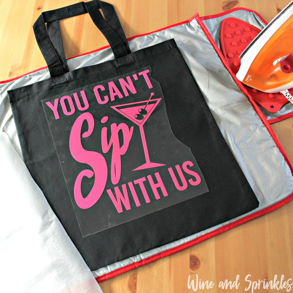2. placement with text.jpgYou Can't Sip with Us Iron On HTV Bachelorette Tote Bags #bachelorette #youcantsipwithus #htvvinyl #svgfiles