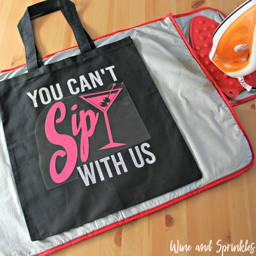 9. pink placement with text.jpgYou Can't Sip with Us Iron On HTV Bachelorette Tote Bags #bachelorette #youcantsipwithus #htvvinyl #svgfiles