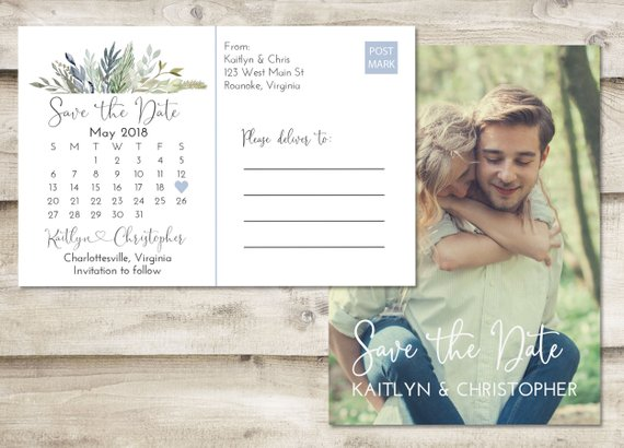 Fun and Unique Etsy Save the Dates Under $1.50 #savethedate #etsy #budgetwedding