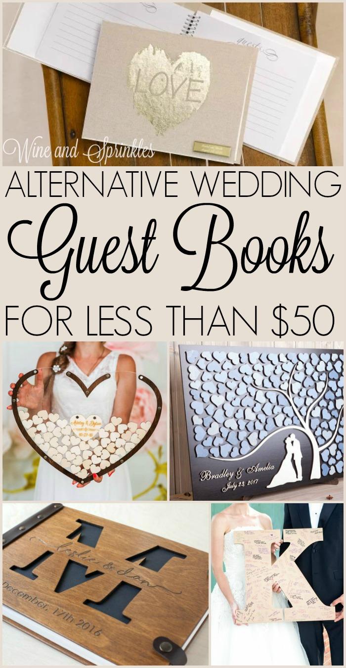 Unique Wedding Guestbooks Under $50 #guestbook #budgetwedding