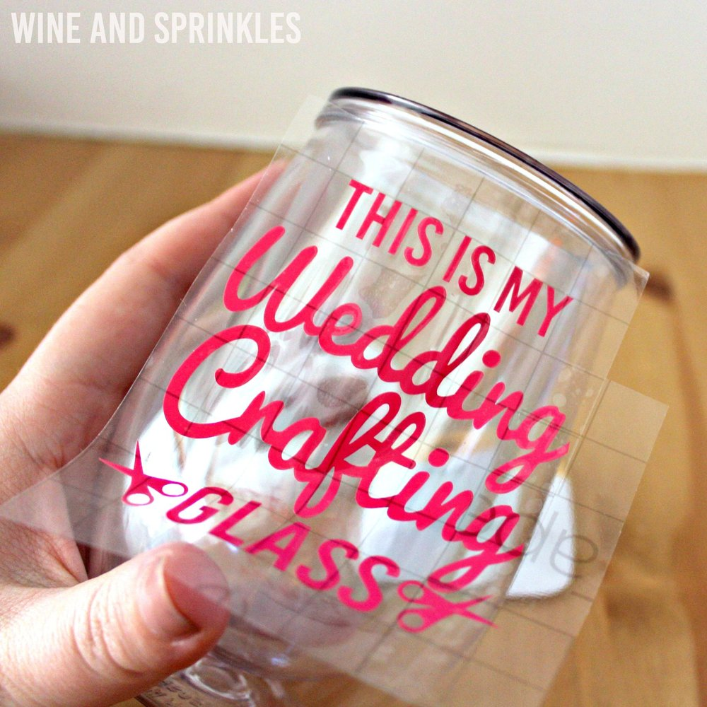 DIY This is my Wedding Crafting Glass Stemless Wine Tumbler #justengaged #diywedding #tumbler