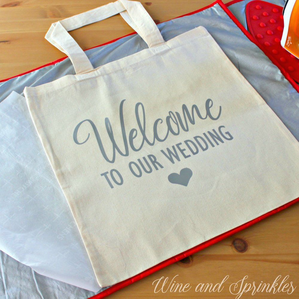 4. Completed with text.jpgDIY HTV Welcome to Our Wedding Guest Tote Bags #weddingguest #diywedding #totebag