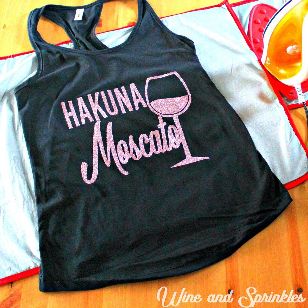 DIY Iron On HTV Wine Pun Bachelorette Tank Tops #bachelorette #wine #bachelorettediy