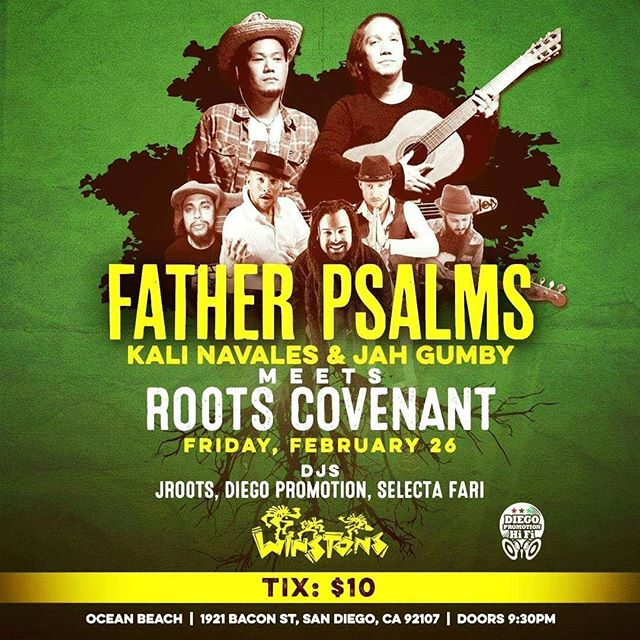 #FatherPsalms meets #RootsCovenant this Friday, February 26 at @winstonsob! $10 / Doors @ 9:30.