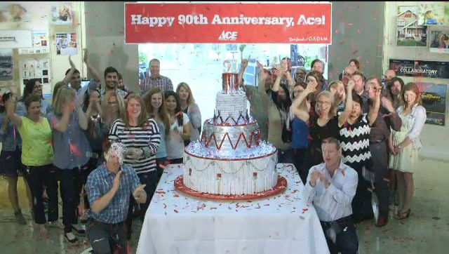 Ace Hardware Turned 90 Years Old In 2014 And Whats More Perfect To Celebrate A Birthday With Than Cake Made Of