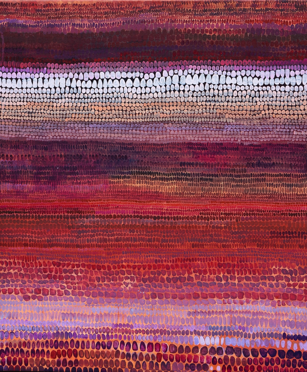 Blood Moon, acrylic on canvas, 24 x 30 in, 2015