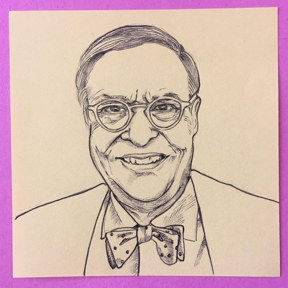 Mr Stumm., 3x3 in., ballpoint pen