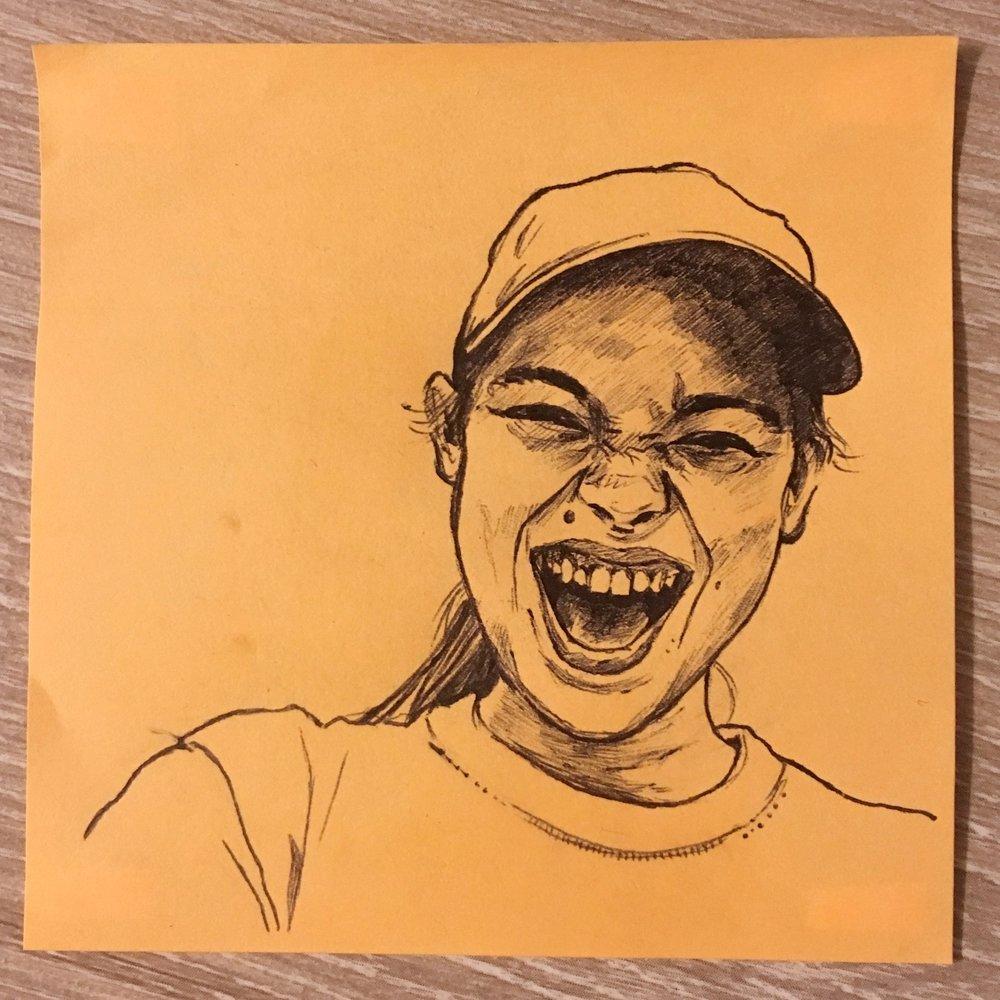 3x3 in., ballpoint pen