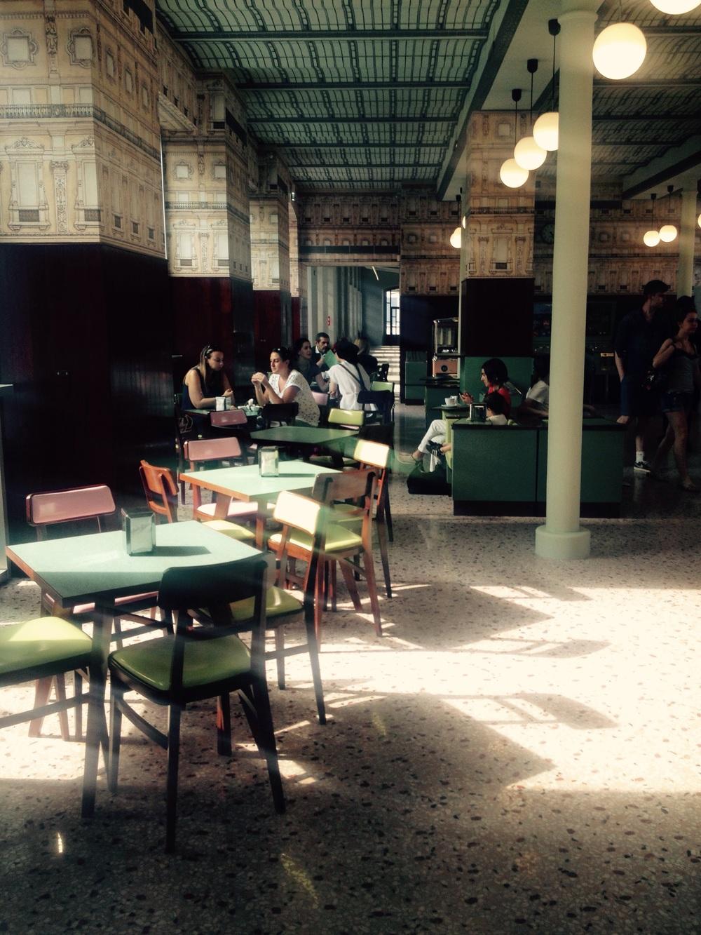 Inside Bar Luce, Milan.