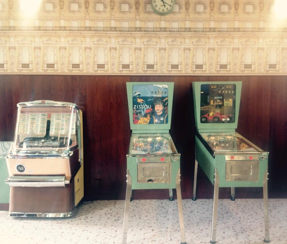 Life Aquatic with Steve Zissou pinball machine at Bar Luce, Milan.