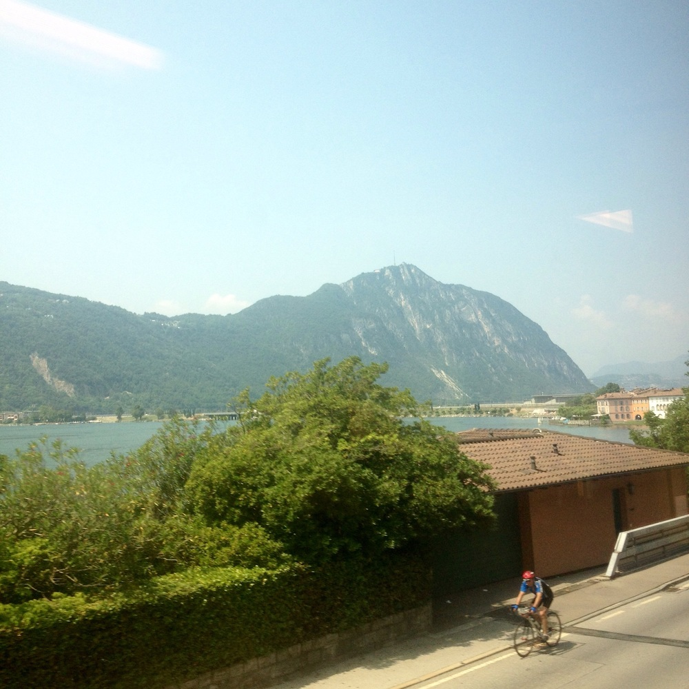 The view from the train from Milan to  Lacarno