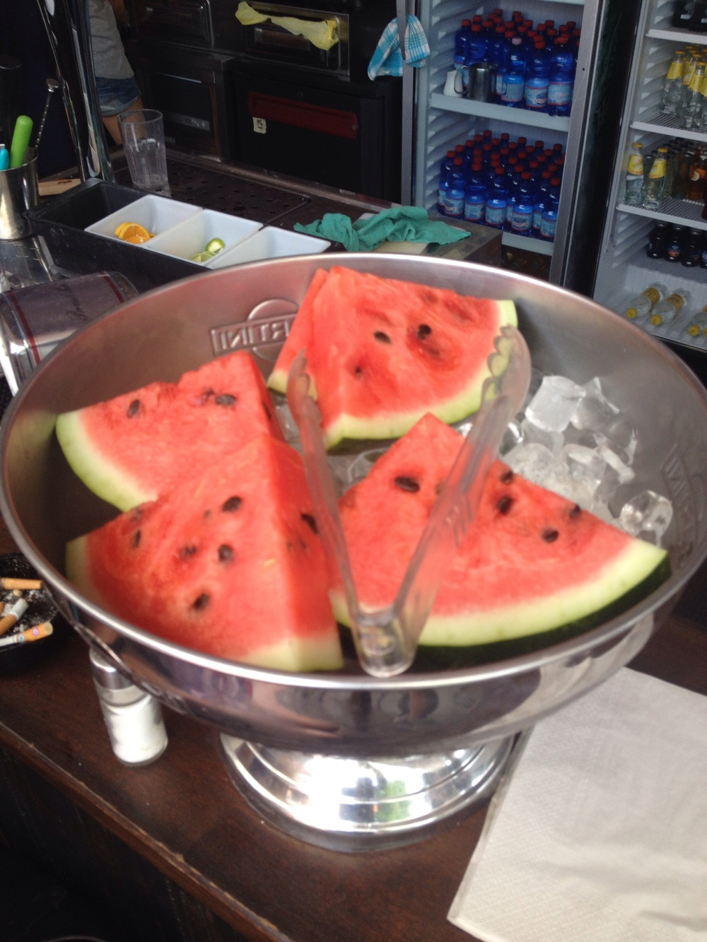 Fresh Watermelon from the bar