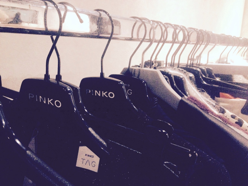 Pinko rail backstage