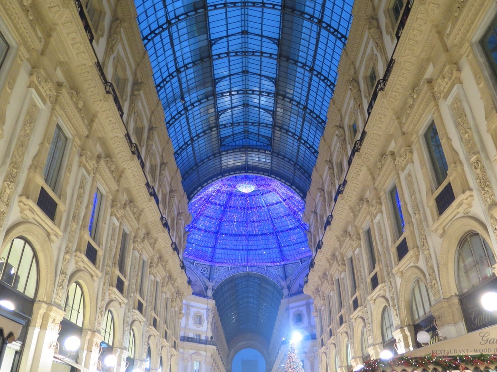 The view of the Galleria Vittorio Emanuele II from the Gucci cafe