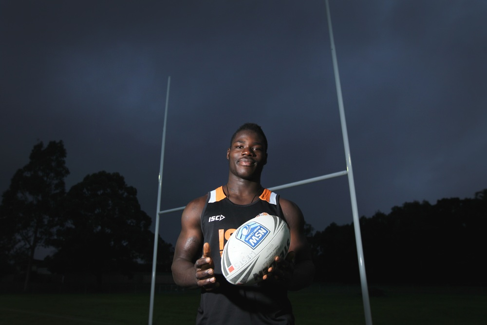 Wests Tigers player Obed Kharwin