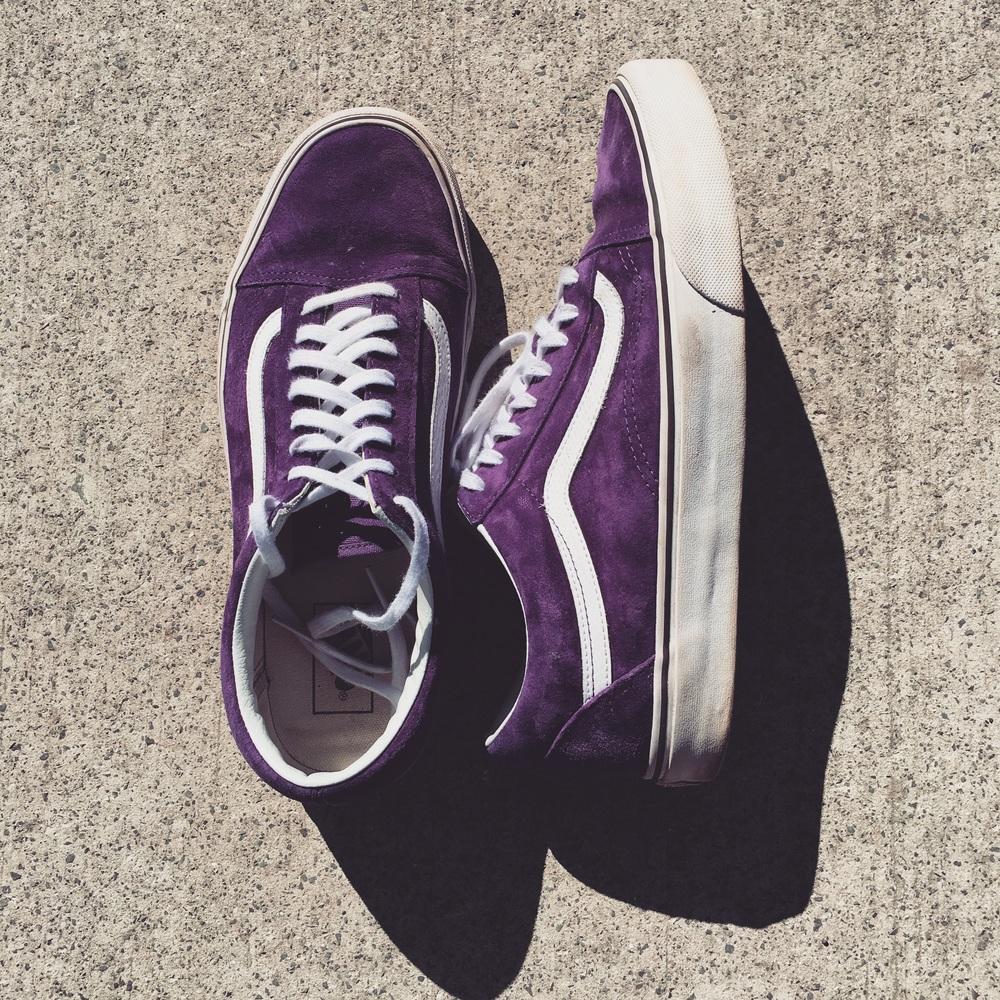 Purple Vans.