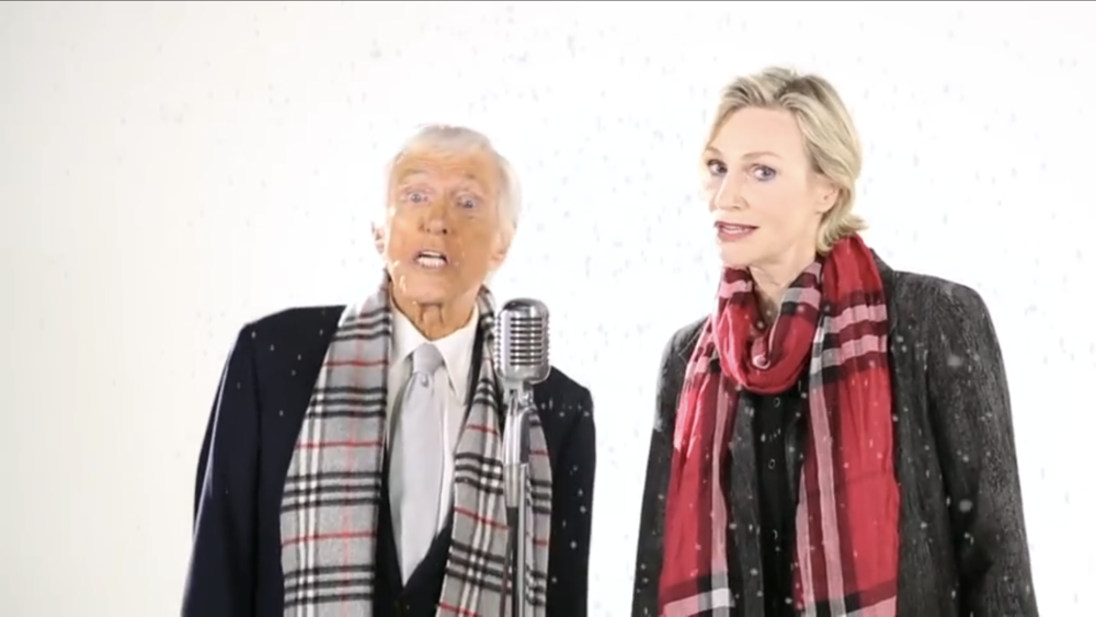 Dick Van Dyke and Jane Lynch