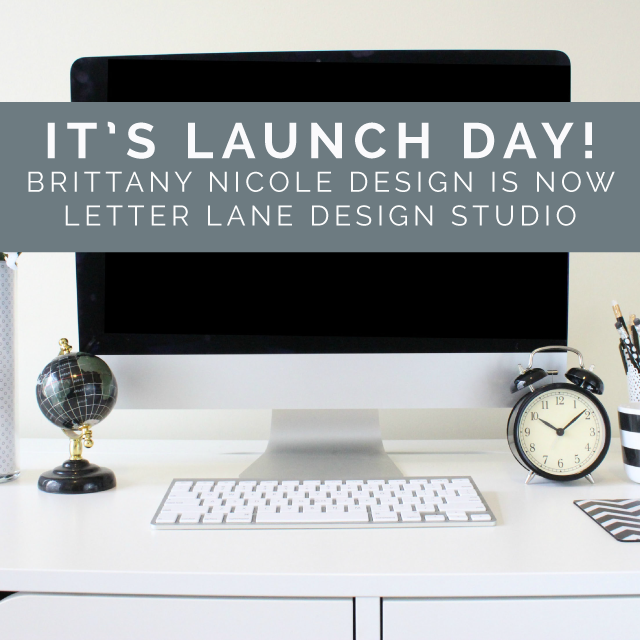 It's launch day for Letter Lane Design Studio! :) | Photo via  Jenna Redfield