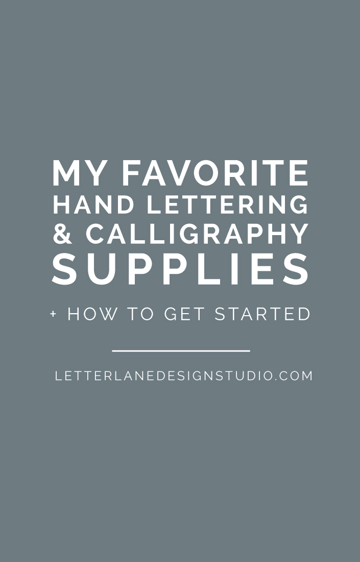 My Favorite Hand Lettering & Calligraphy Supplies | Want to know what a hand lettering artist and calligrapher keeps in their toolbox? I'm sharing my favorite tools I use daily for both hand lettering and calligraphy, as well as some books and online tutorial suggestions to help you get started! Click through to my list of supplies and read the full post.