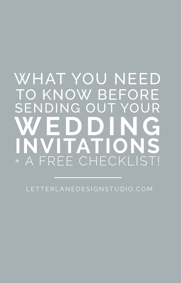 What You Need To Know Before Sending Out Your Wedding Invitations | Planning your wedding? Wondering about invitation etiquette? Make sure to check out this guest post from Amanda Saturday where she's sharing everything you need to know before you send out those wedding invitations! Click through to read the full post and download the free checklist.