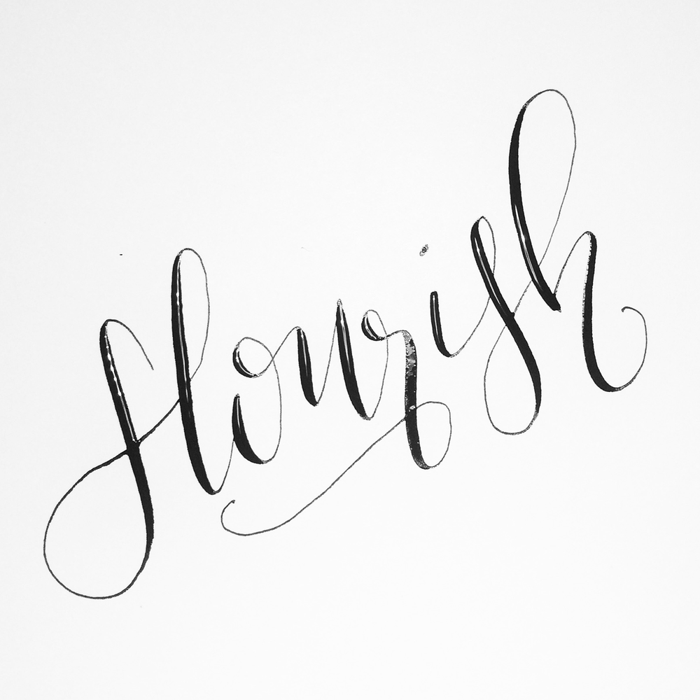 The difference between hand lettering calligraphy and Images of calligraphy