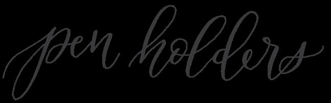 calligraphy pen holders