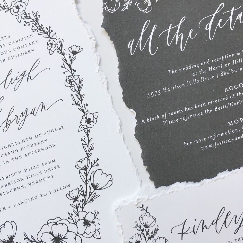 wedding stationery semi-custom invitations