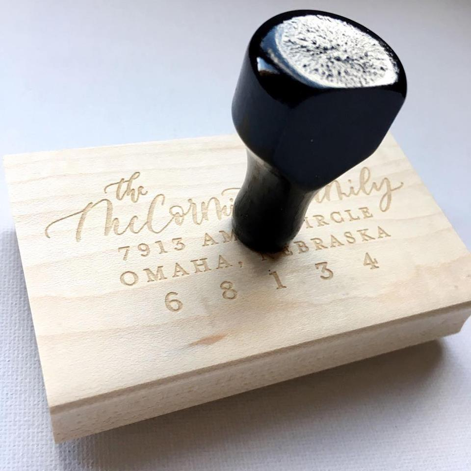 custom calligraphy return address stamp wedding invitations