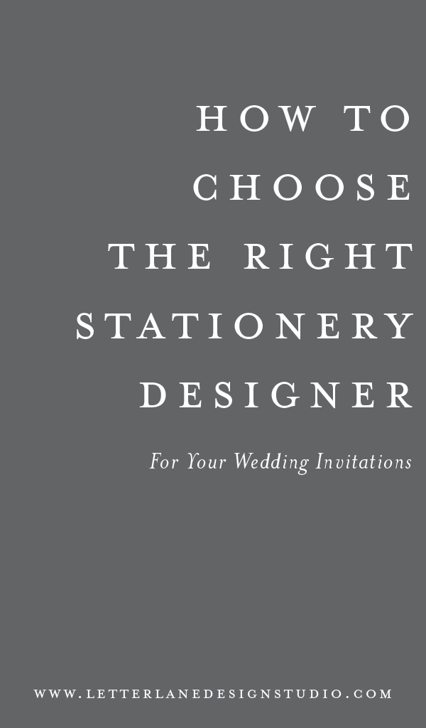 How To Choose The Right Stationery Designer For Your Wedding Invitations