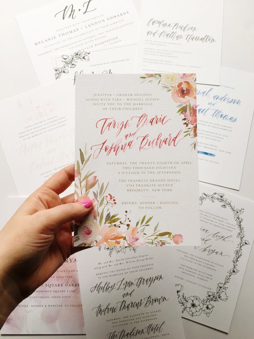 semi custom wedding invitations | Letter Lane Design Studio