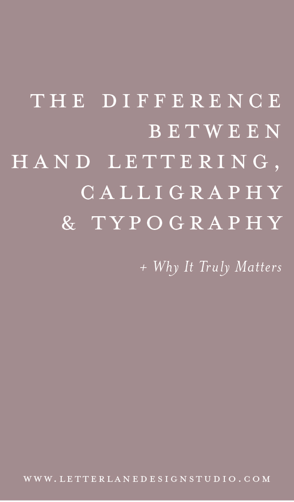 The Difference Between Hand Lettering Calligraphy And