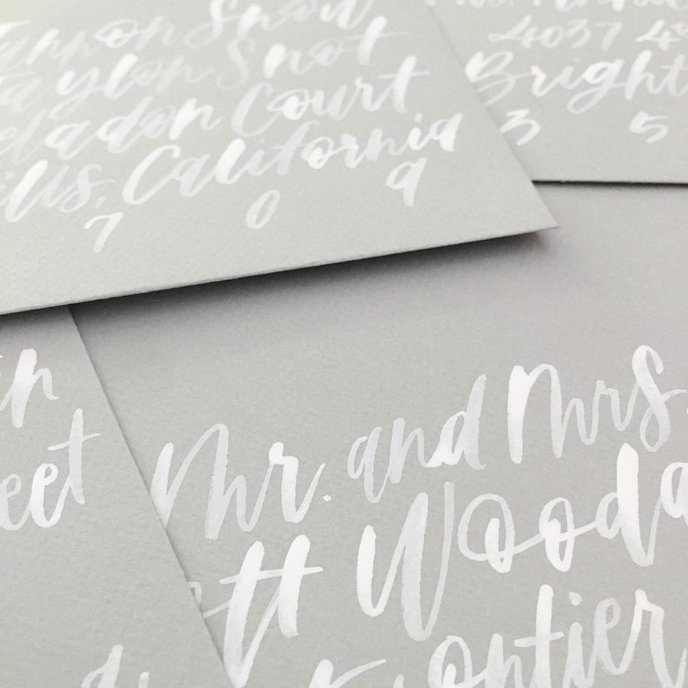 wedding stationery, wedding invitation, brush lettering