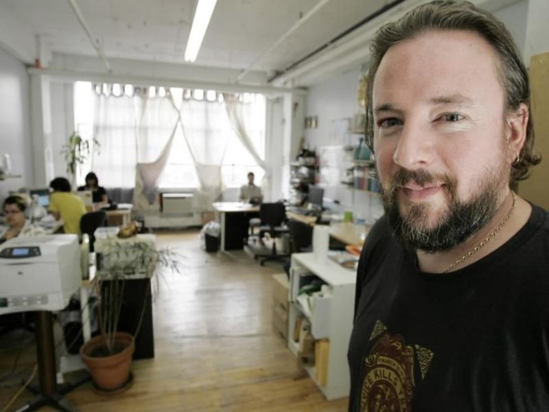 Shane Smith dans les bureaux de Montréal en 2007. (Crédit:The Gazette/Richard Arless Jr)