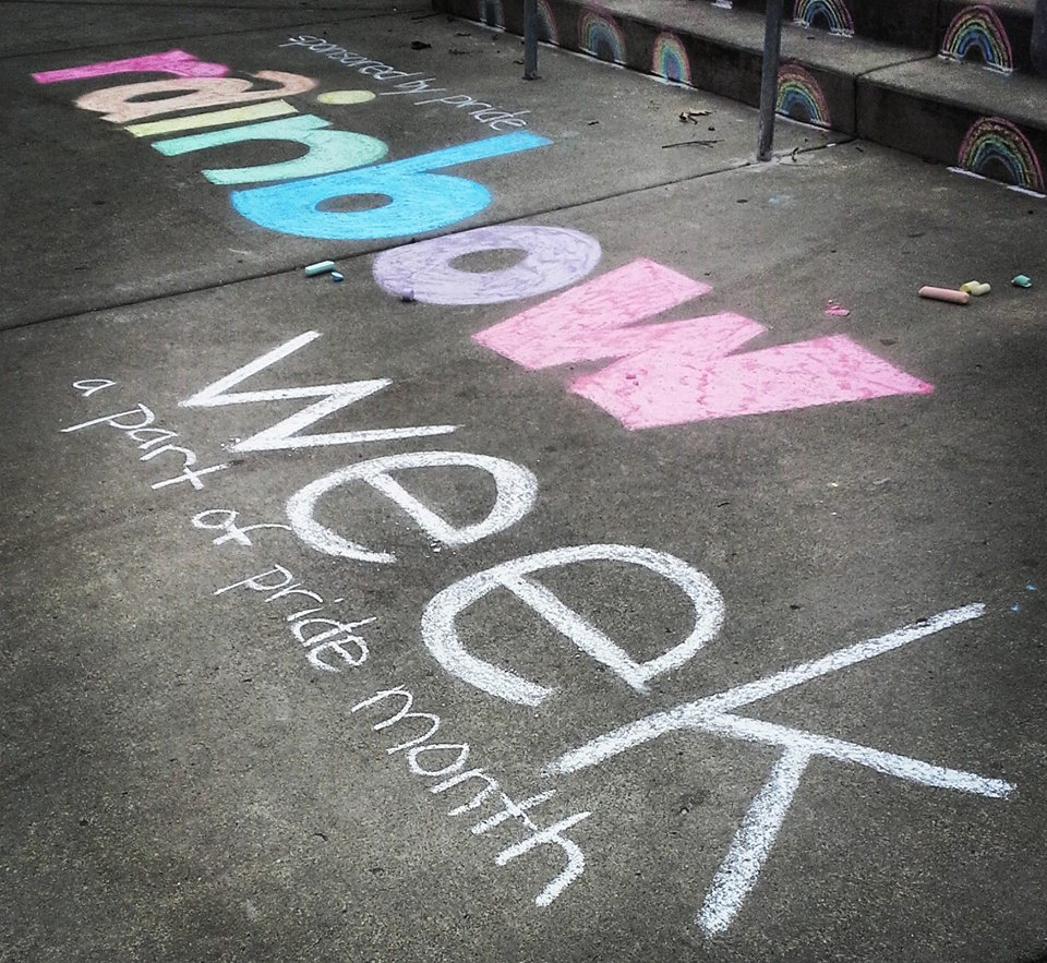 rainbow week chalking