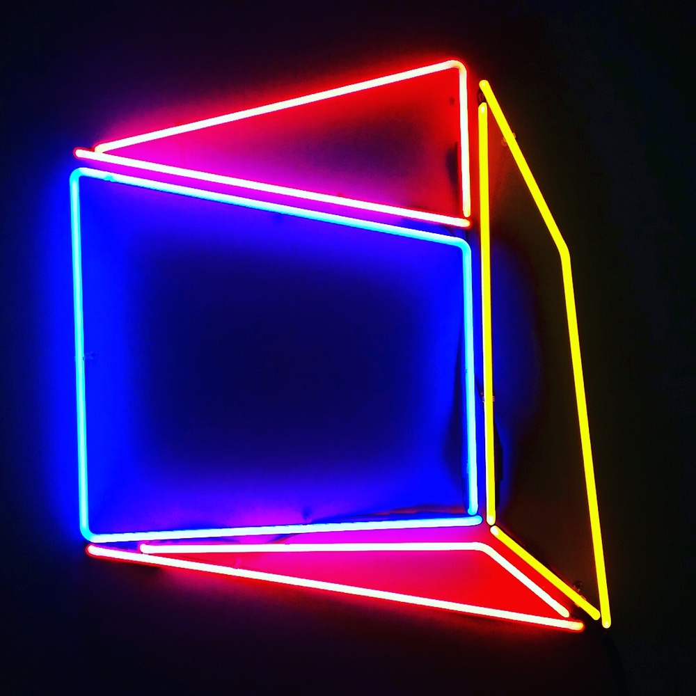 "Soft Geometry Neon 6A.442216E. 2015 - Edition: 1 of 3.  - 30.52""w x 31.58"" h Wall Sculpture"