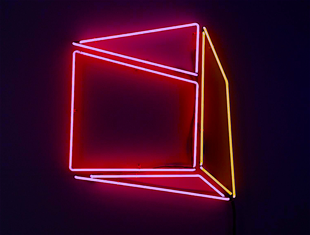 "Soft Geometry Neon 6A.442216C. 2015 - Edition: 1 of 3.  - 30.52""w x 31.58"" h Wall Sculpture"