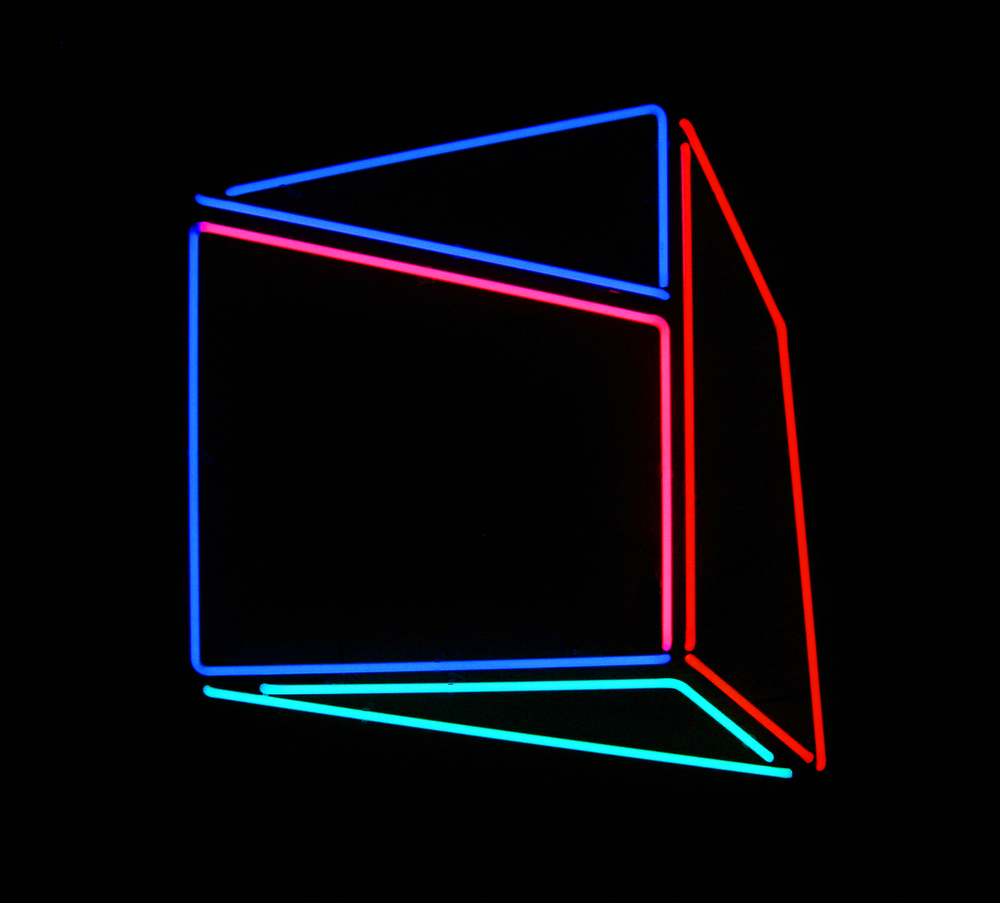 "Soft Geometry Neon 6A.52206B. 2015 - Edition: 1 of 3.  - 30.52""w x 31.58"" h Wall Sculpture"